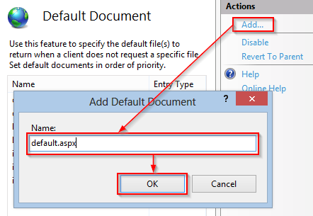 Default document Windows 2008 (2)