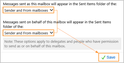 How Do I Save Messages Sent From A Shared Mailbox To The Sent Items