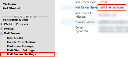Mail Client Settings - Intermedia Knowledge Base