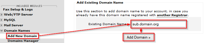 Adding third-level domains (3)